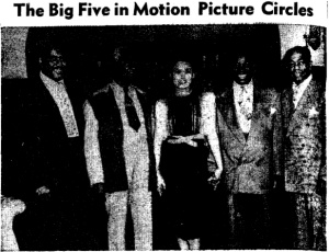 Lena Horne at Committee for Unity in Motion Pictures reception in 1944
