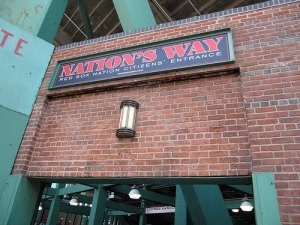 "The ""Red Sox Nation Citizens' Entrance"" at Fenway Park"