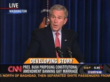 George W. Bush endorses the FMA in 2006 (screencap via Rod 2.0)