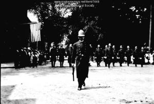Independence Day parade in Portland, Maine, on July 4, 1910. Harry Miles Freeman photograph collection, Maine Historical Society.