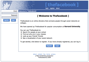 Thefacebook.com circa 2004 (screengrab from Archive.org)