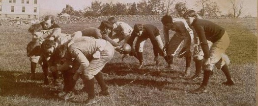 UConn football players of yesteryear (Thomas J. Dodd Research Center, UConn Athletic Game Films collection)
