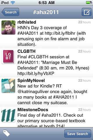 Tweets tagged #AHA2011